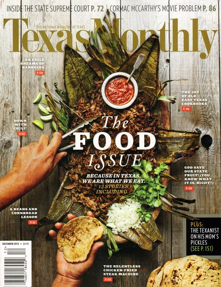 Texas Monthly Cover - 12/1/2013