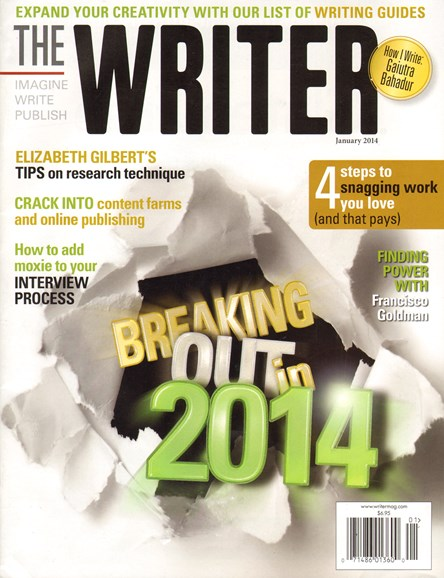 The Writer Cover - 1/1/2014