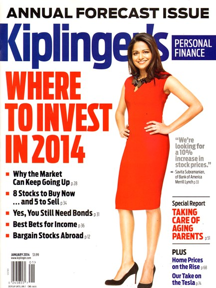 Kiplinger's Personal Finance Cover - 1/1/2014