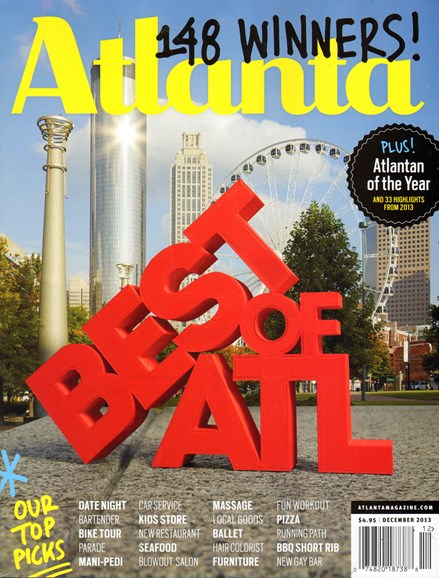 Atlanta Magazine Cover - 12/1/2013