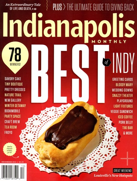 Indianapolis Monthly Cover - 12/1/2013