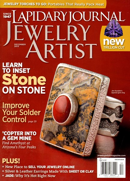 Lapidary Journal Jewelry Artist Cover - 12/1/2013
