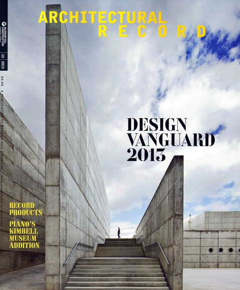 Architectural Record Cover - 12/1/2013
