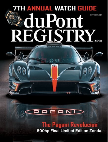 Dupont Registry Of Fine Autos Cover - 10/1/2013