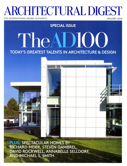 Architectural Digest Cover - 1/1/2014