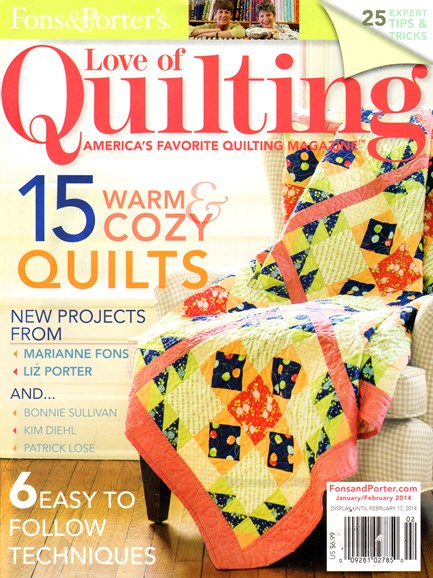 Fons & Porter's Love of Quilting Cover - 1/1/2014