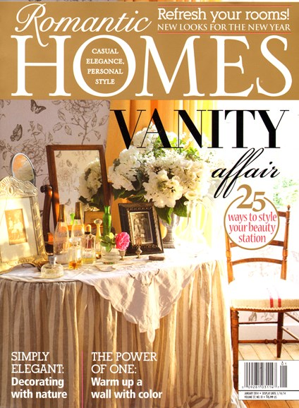 Romantic Homes Cover - 1/1/2014