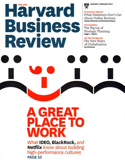 Harvard Business Review Cover - 1/1/2014