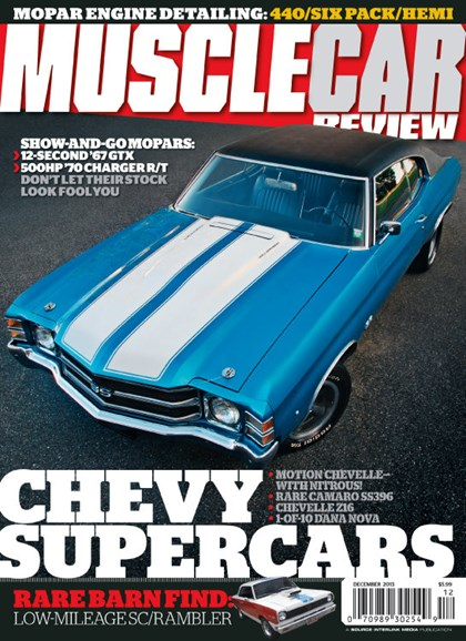 Muscle Car Review Cover - 12/1/2013