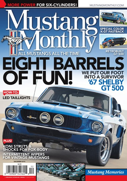 Mustang Monthly Cover - 12/1/2013