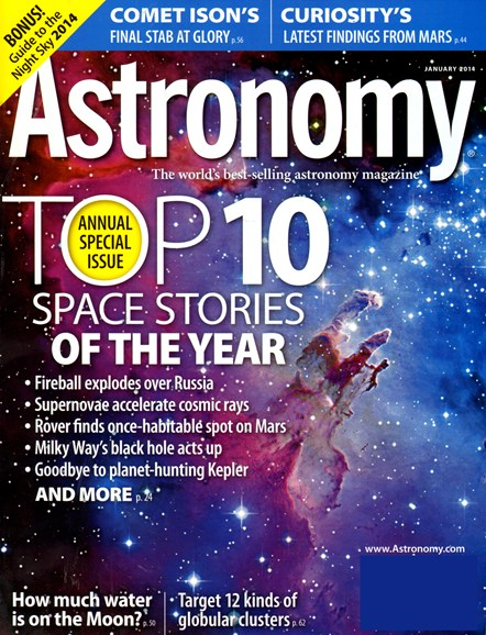 Astronomy Cover - 1/1/2014