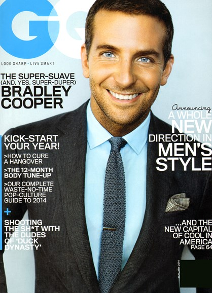 Gentlemen's Quarterly - GQ Cover - 1/1/2014