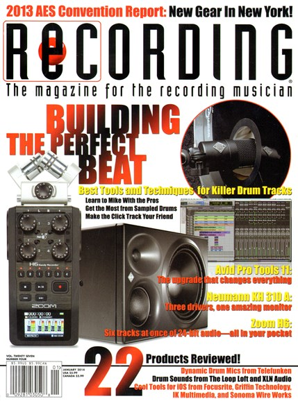 Recording Magazine Cover - 1/1/2014