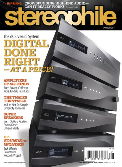 Stereophile Cover - 1/1/2014