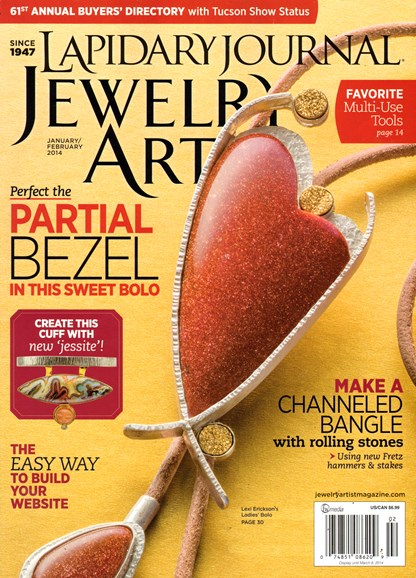 Lapidary Journal Jewelry Artist Cover - 1/1/2014