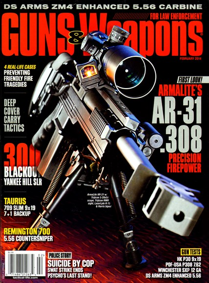 Guns & Weapons For Law Enforcement Cover - 2/1/2014