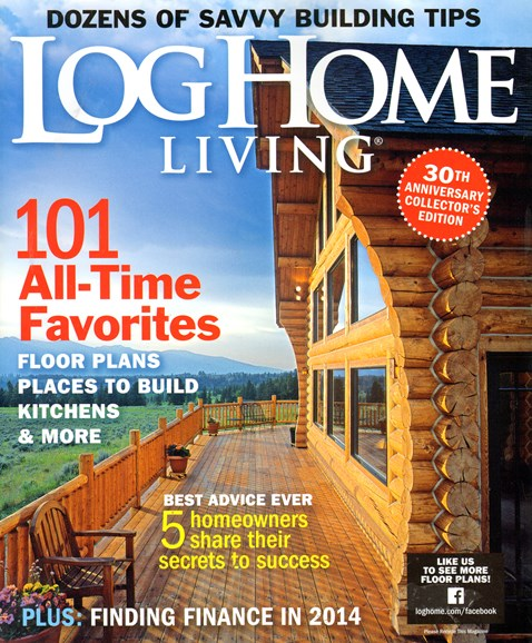 Log Home Living Cover - 2/1/2014