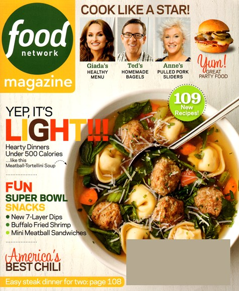Food Network Cover - 1/1/2014