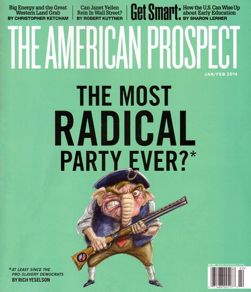 The American Prospect Cover - 1/1/2014