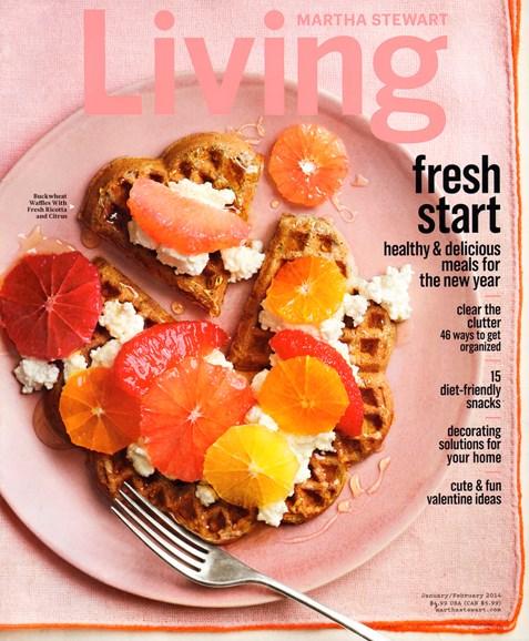 Martha Stewart Living Cover - 1/1/2014