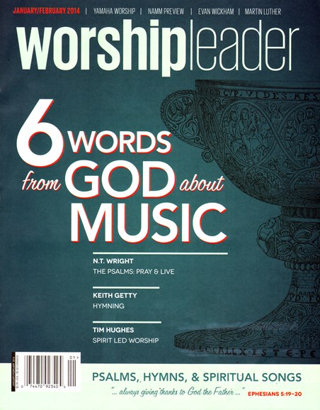 Worship Leader Magazine Cover - 1/1/2014