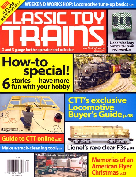 Classic Toy Trains Cover - 1/1/2014
