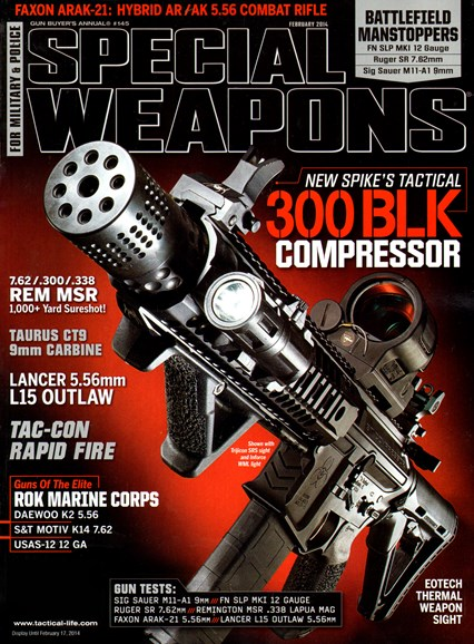 Special Weapons for Military & Police Cover - 2/1/2014
