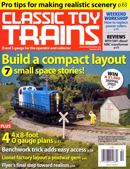 Classic Toy Trains Cover - 2/1/2014