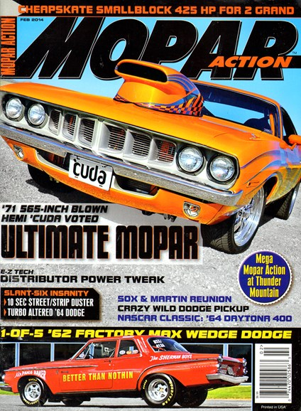 Mopar Action Cover - 2/1/2014