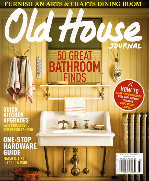 Old House Journal Cover - 2/1/2014