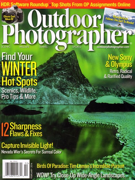 Outdoor Photographer Cover - 2/1/2014
