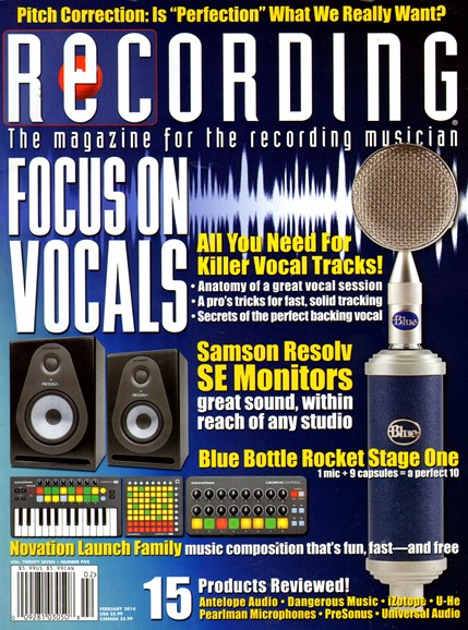 Recording Magazine Cover - 2/1/2014