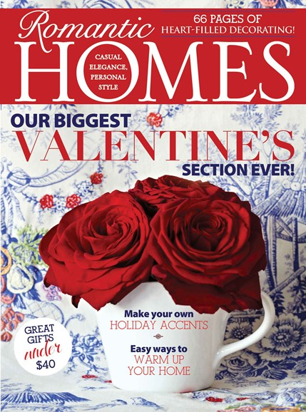 Romantic Homes Cover - 2/1/2014