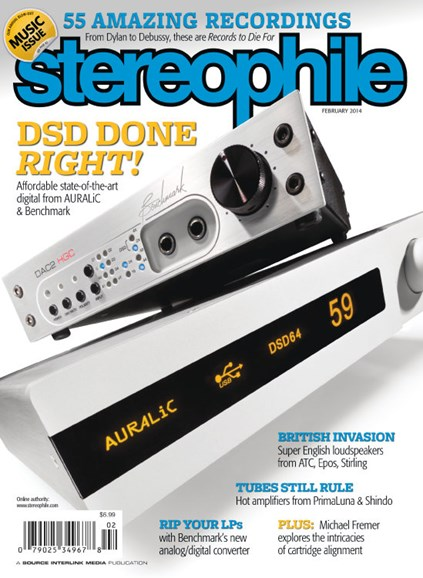 Stereophile Cover - 2/1/2014