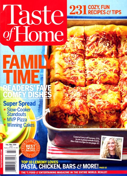 Taste of Home Cover - 2/1/2014
