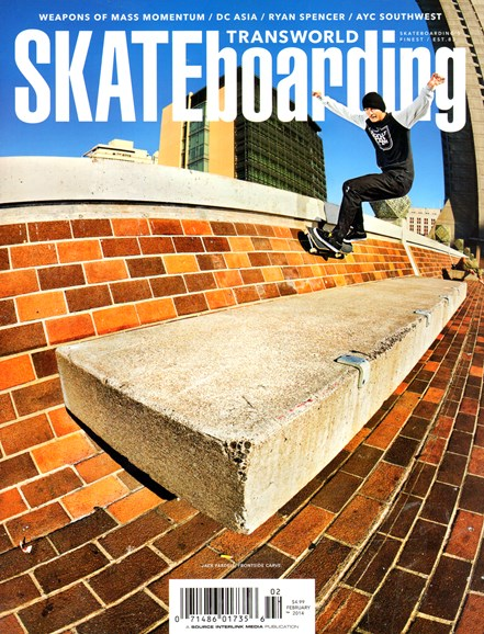 Transworld SKATEboarding Cover - 2/1/2014