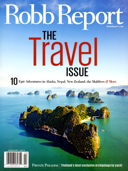 Robb Report Cover - 2/1/2014