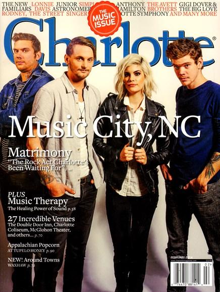 Charlotte Magazine Cover - 2/1/2014