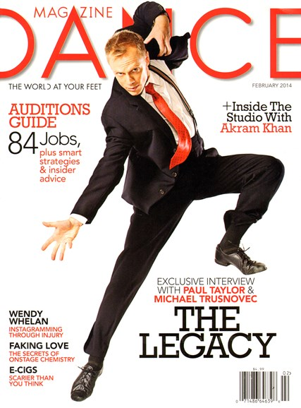 Dance Magazine Cover - 2/1/2014