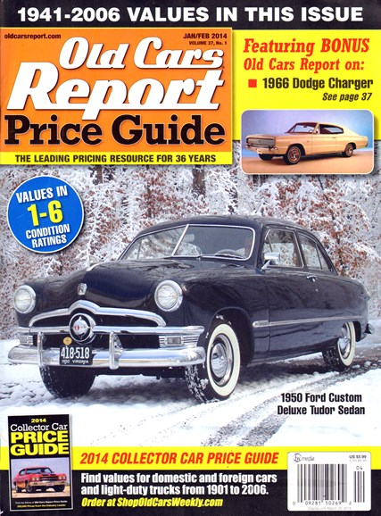 Old Cars Report Price Guide Cover - 1/1/2014