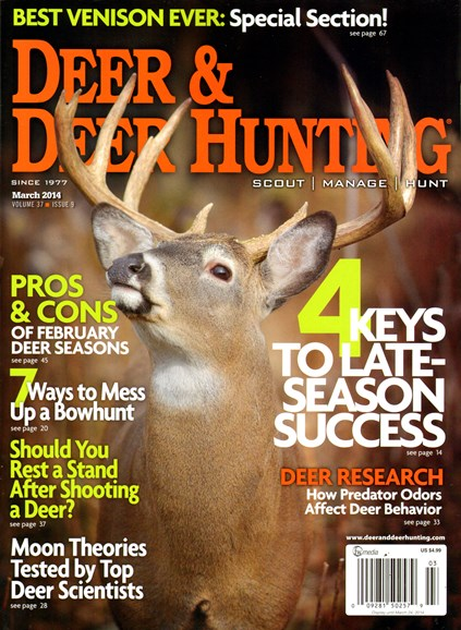 Deer & Deer Hunting Cover - 3/1/2014