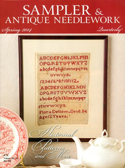 Sampler & Antique Needlework Qtry Magazine Cover - 3/1/2014