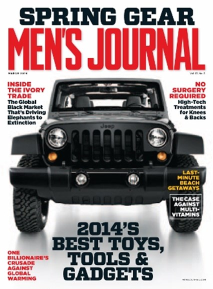 Men's Journal Cover - 3/1/2014