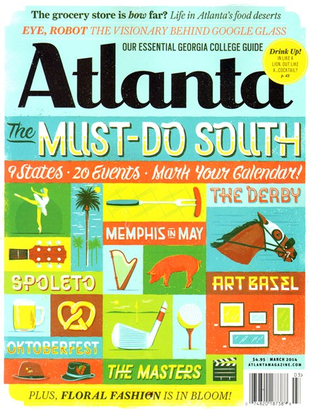 Atlanta Magazine Cover - 3/1/2014