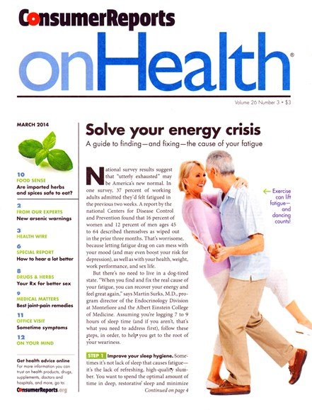 Consumer Reports On Health Cover - 3/1/2014
