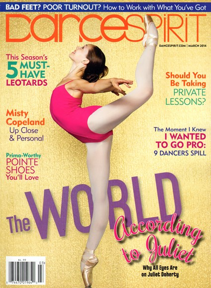 Dance Spirit Cover - 3/1/2014