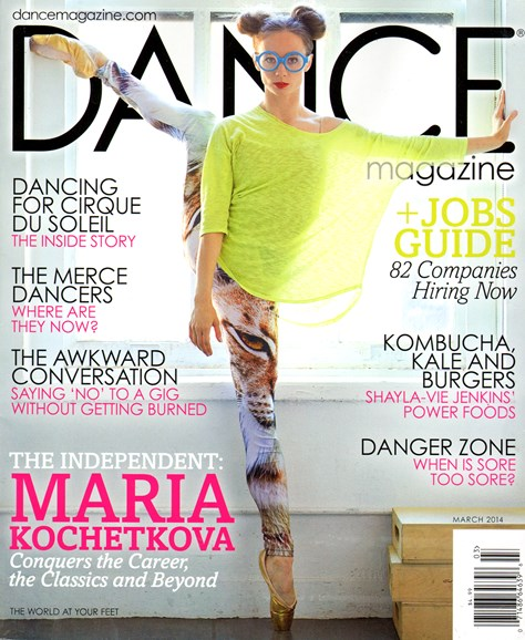 Dance Magazine Cover - 3/1/2014