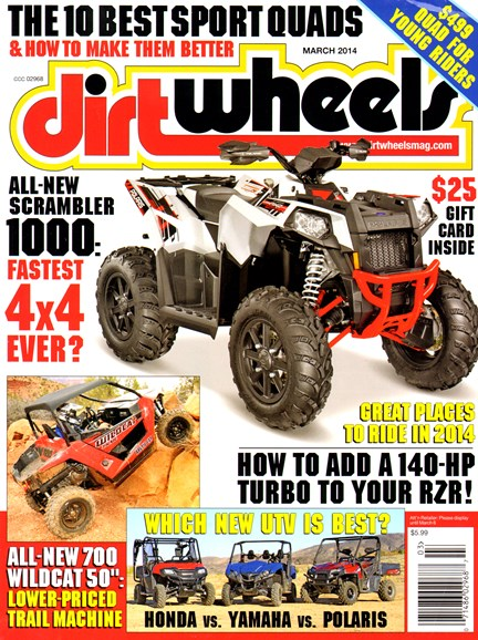 Dirt Wheels Cover - 3/1/2014