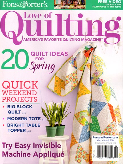 Fons & Porter's Love of Quilting Cover - 3/1/2014