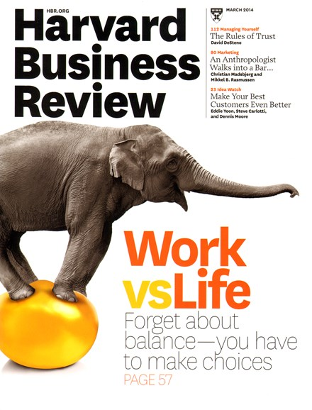 Harvard Business Review Cover - 3/1/2014
